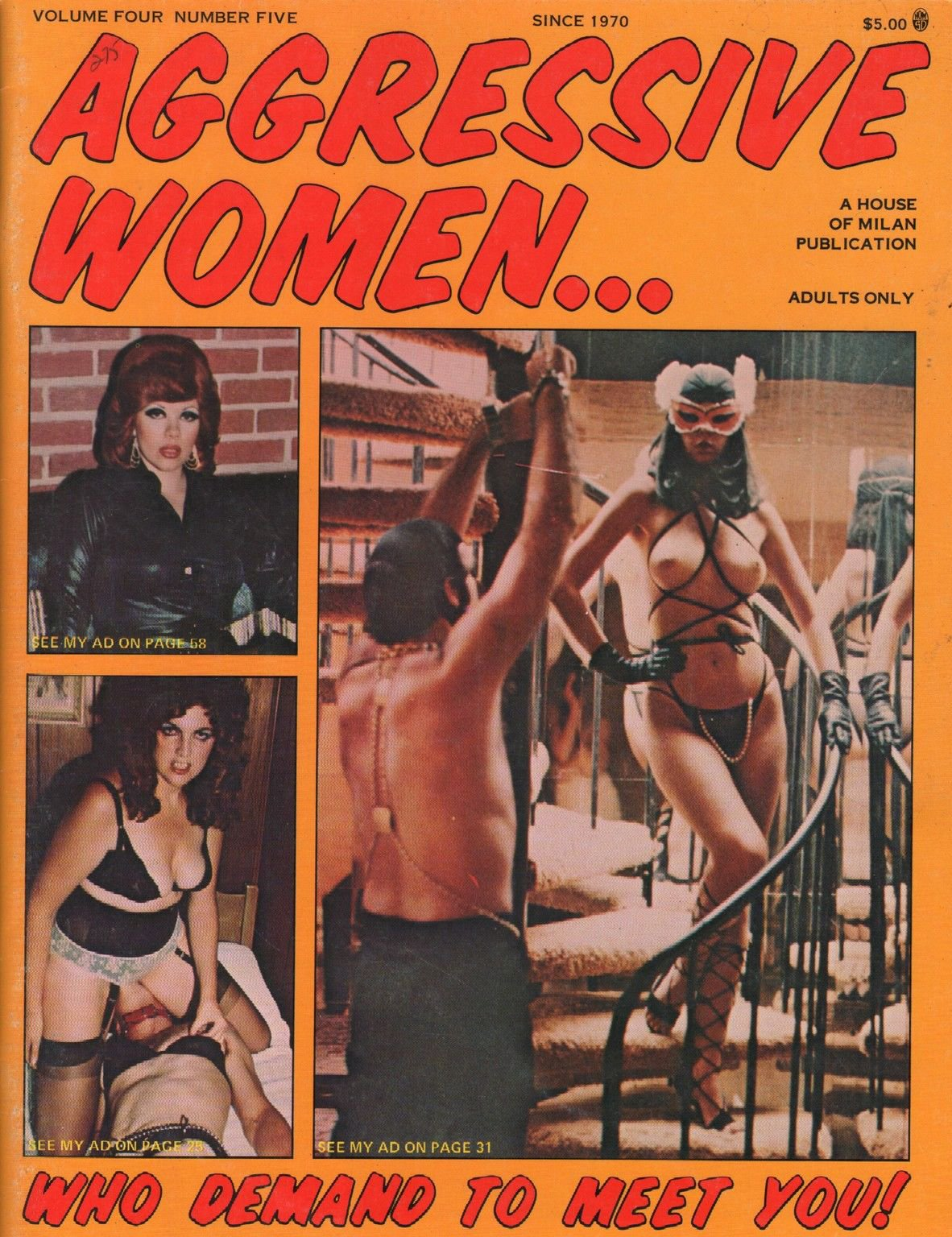 Aggressive Women Vol. 4 # 5 magazine back issue Aggressive Women magizine back copy