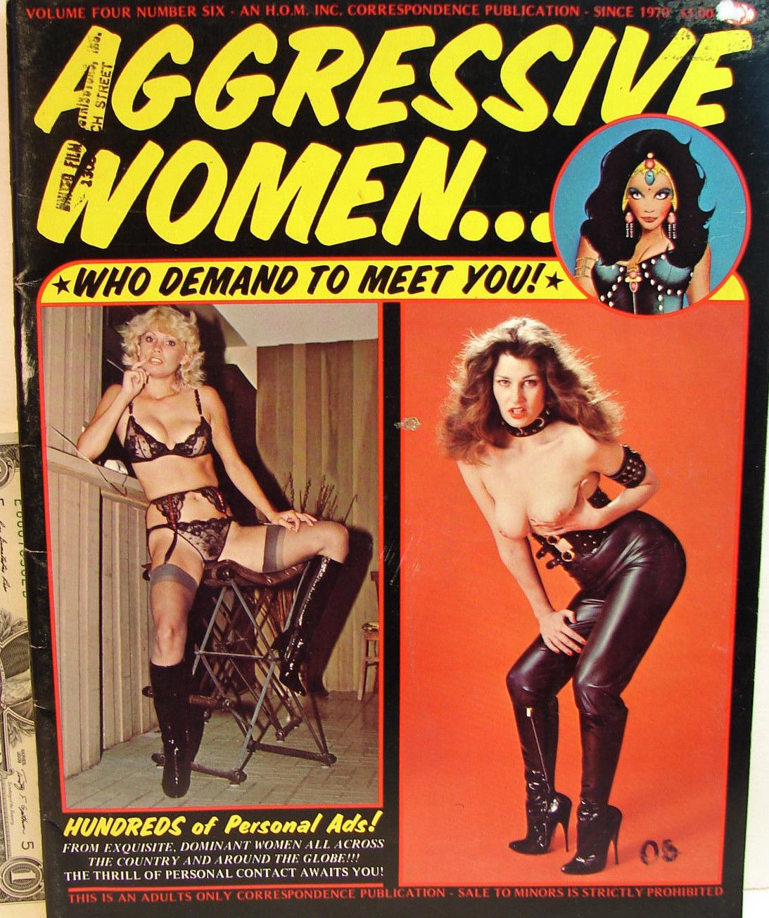 Aggressive Women Vol. 4 # 6 magazine back issue Aggressive Women magizine back copy