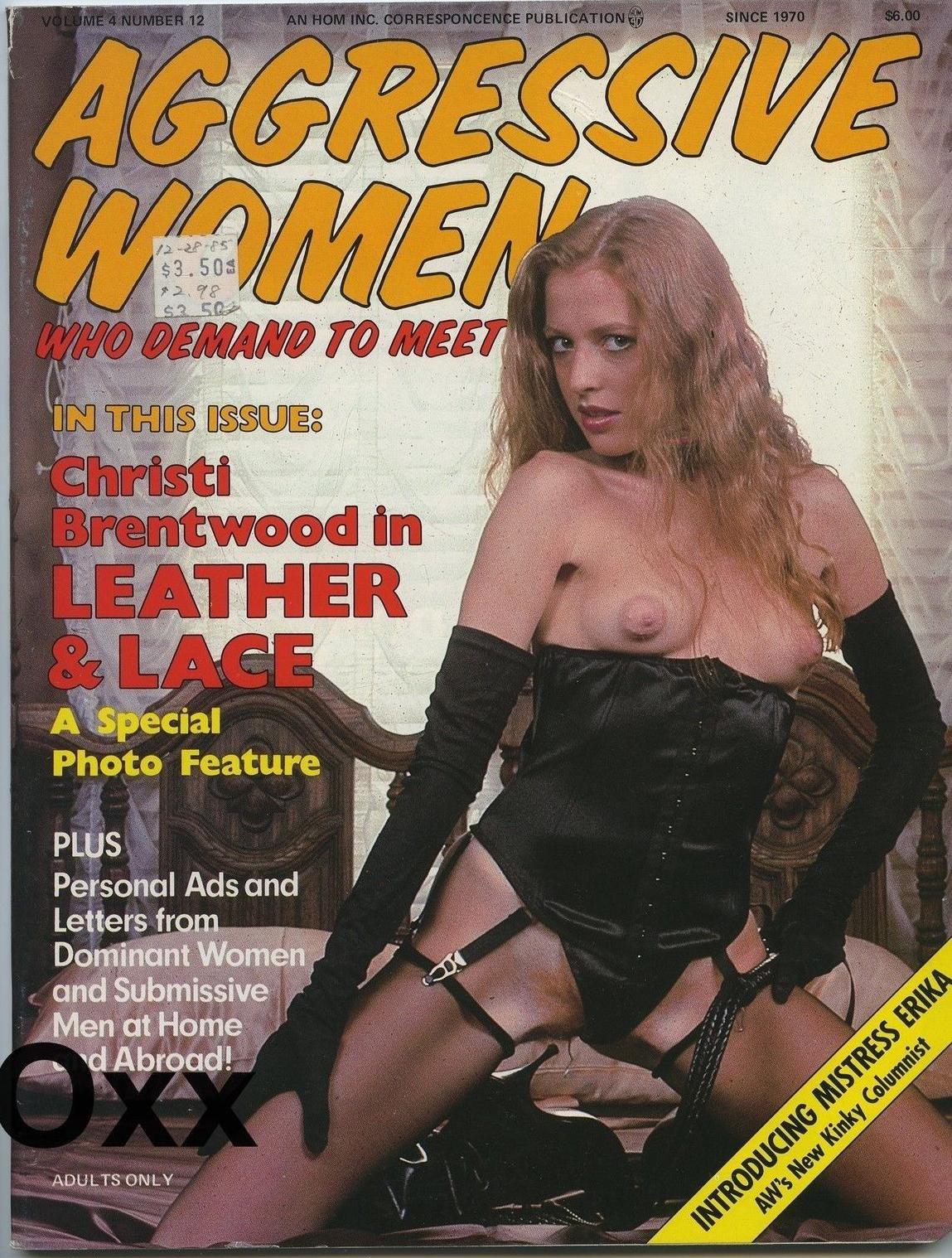 Aggressive Women Vol. 4 # 12 magazine back issue Aggressive Women magizine back copy