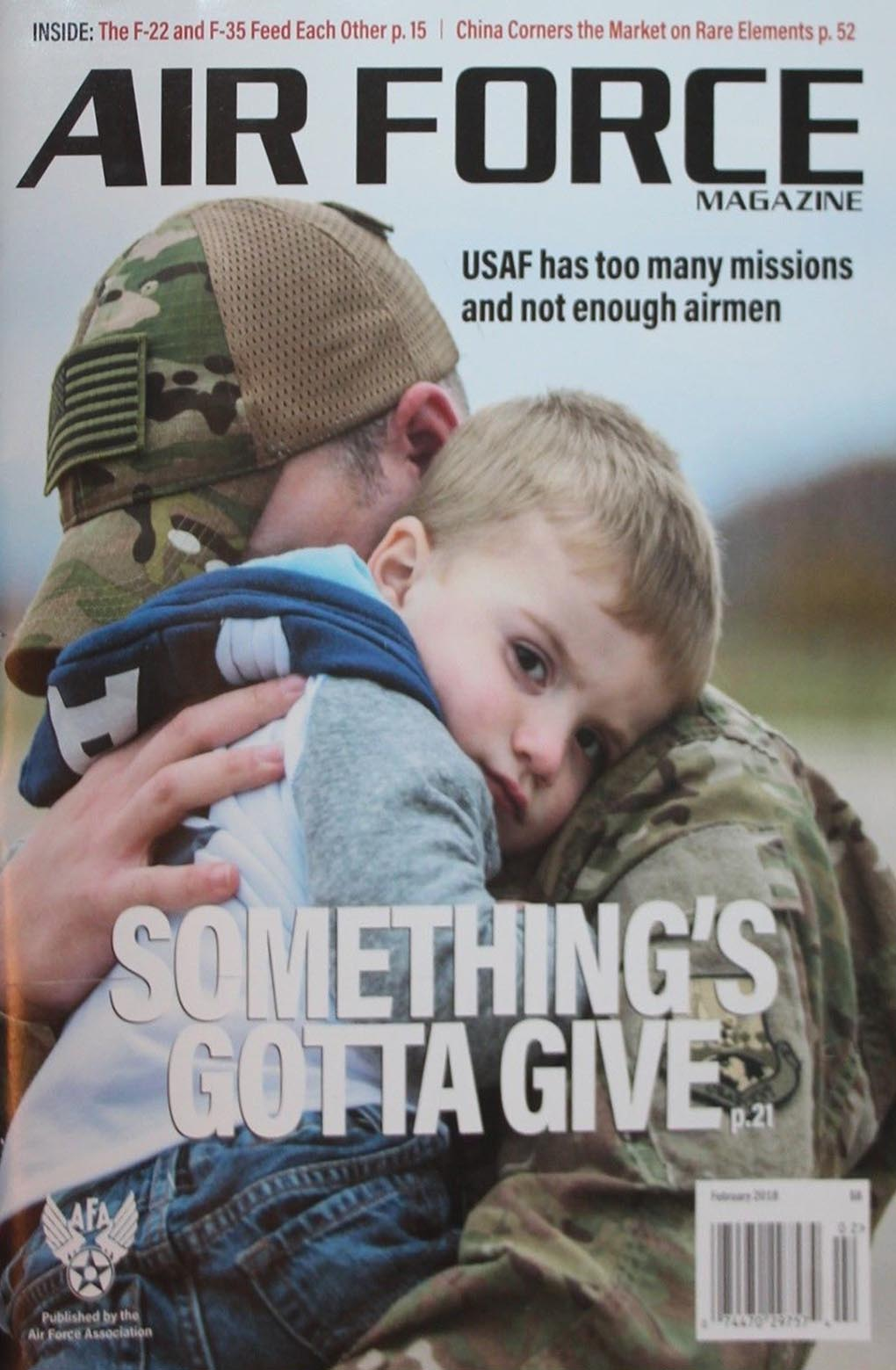 Air Force February 2018 magazine back issue Air Force magizine back copy