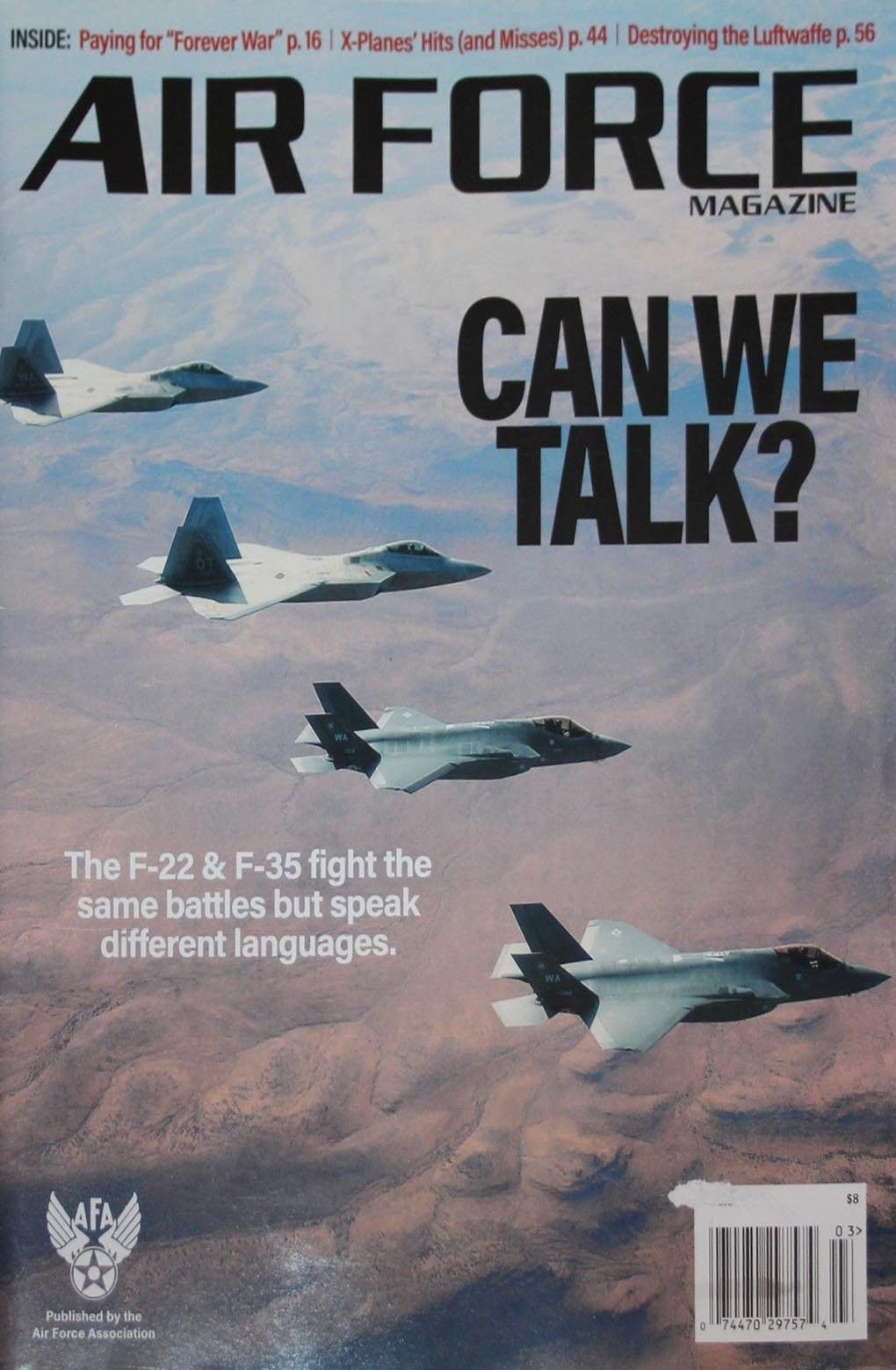 Air Force March 2018 magazine back issue Air Force magizine back copy