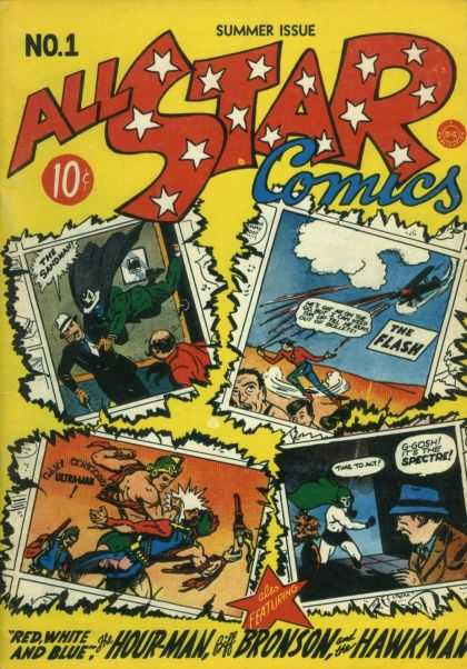 All Star Comics Comic Book Back Issues of Superheroes by A1Comix