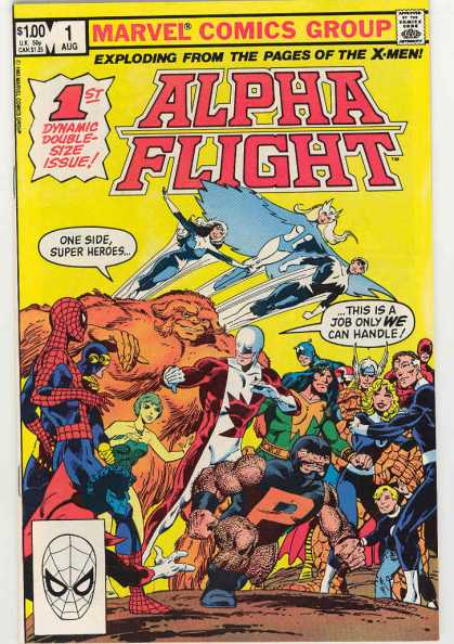 Alpha Flight Comic Book Back Issues of Superheroes by A1Comix