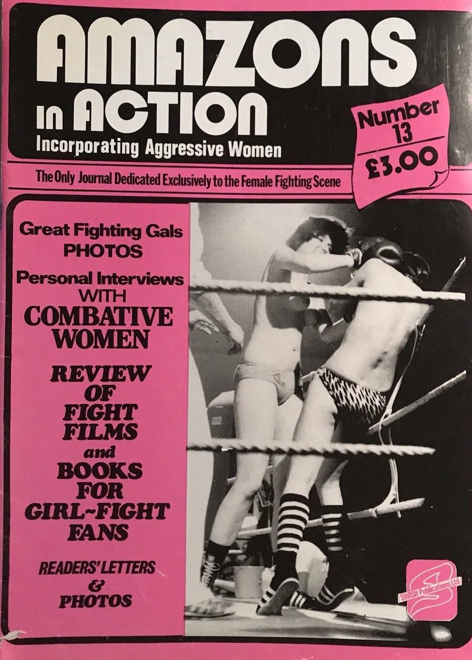 Amazons in Action # 13 magazine back issue Amazons in Action magizine back copy