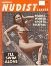 American Nudist Leader August 1962 magazine back issue cover image