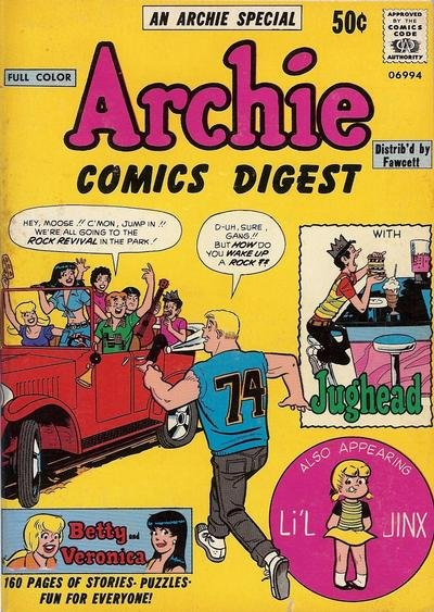 Archie Comics Digest Comic Book Back Issues by A1 Comix
