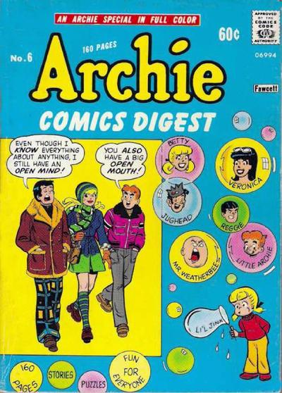 Archie Comics Digest A1 Comix Comic Book Database