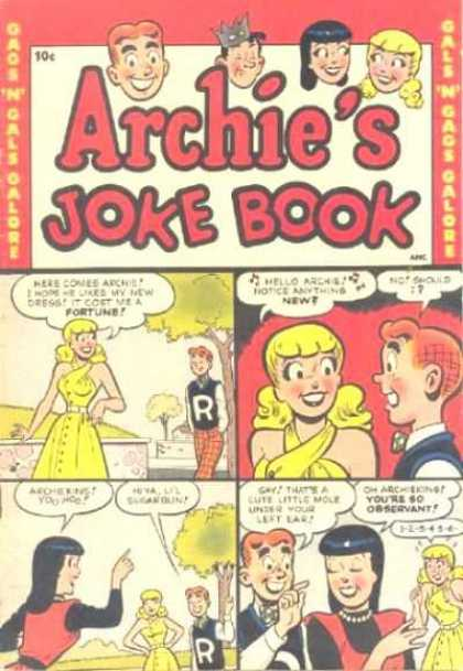 Archie's Joke Book Comic Book Back Issues by A1 Comix