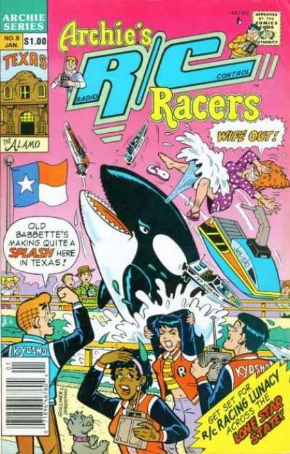 Archie's R/C Racers comic book back issue comicbook back copy