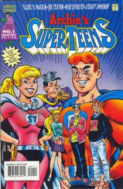 Archie's Super Teens Comic Book Back Issues by A1 Comix