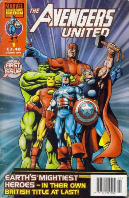 Avengers United Comic Book Back Issues of Superheroes by A1Comix