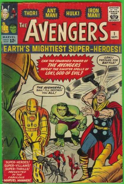 Avengers Comic Book Back Issues of Superheroes by A1Comix