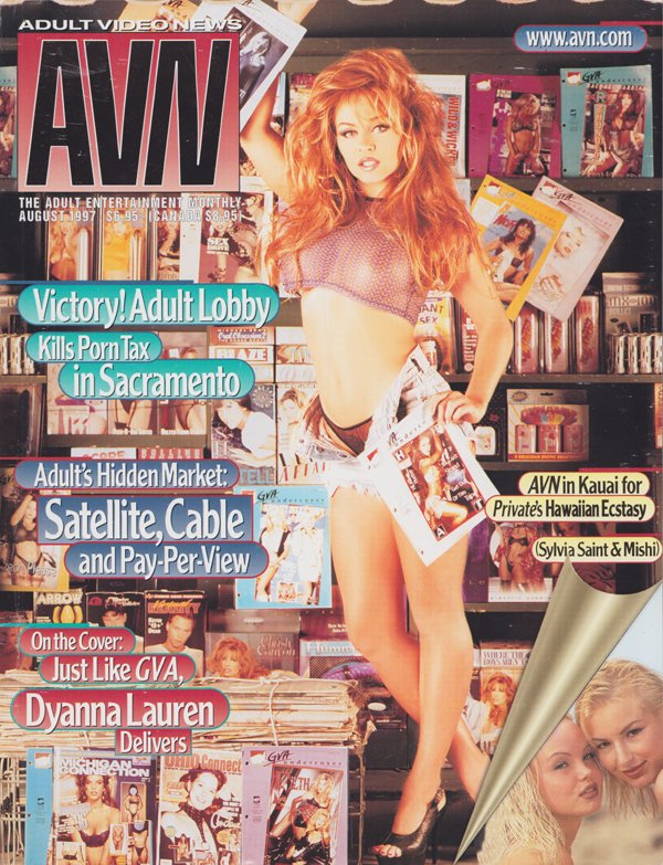 AVN (Adult Video News) August 1997 magazine back issue AVN (Adult Video News) magizine back copy Adult Lobby Kills Porn Tax , in Kauai for Private's Hawaiian Ectasy,Hot Buttered Blues