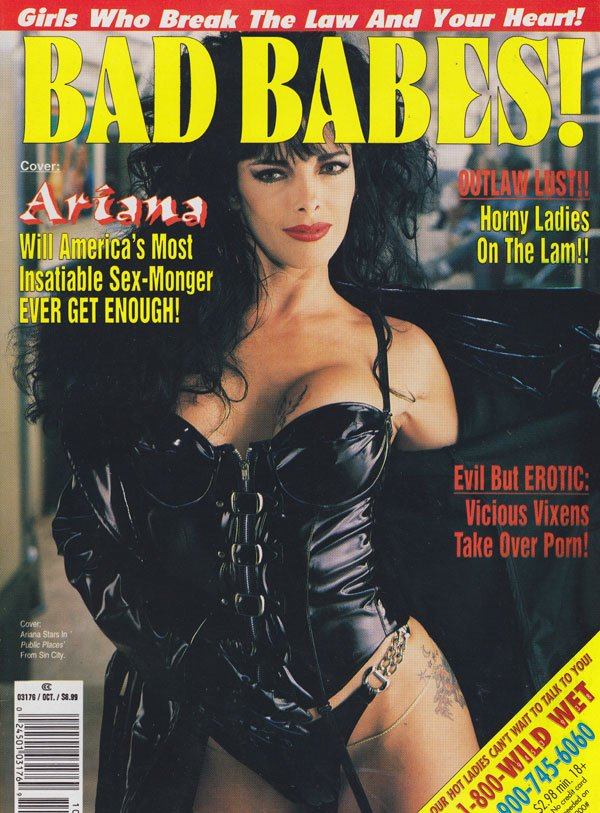 Bad Babes October 1995 magazine back issue Bad Babes magizine back copy bad babes magazine 1995 back issues kink leather studded chicks nude explicit kinky photos naughty s