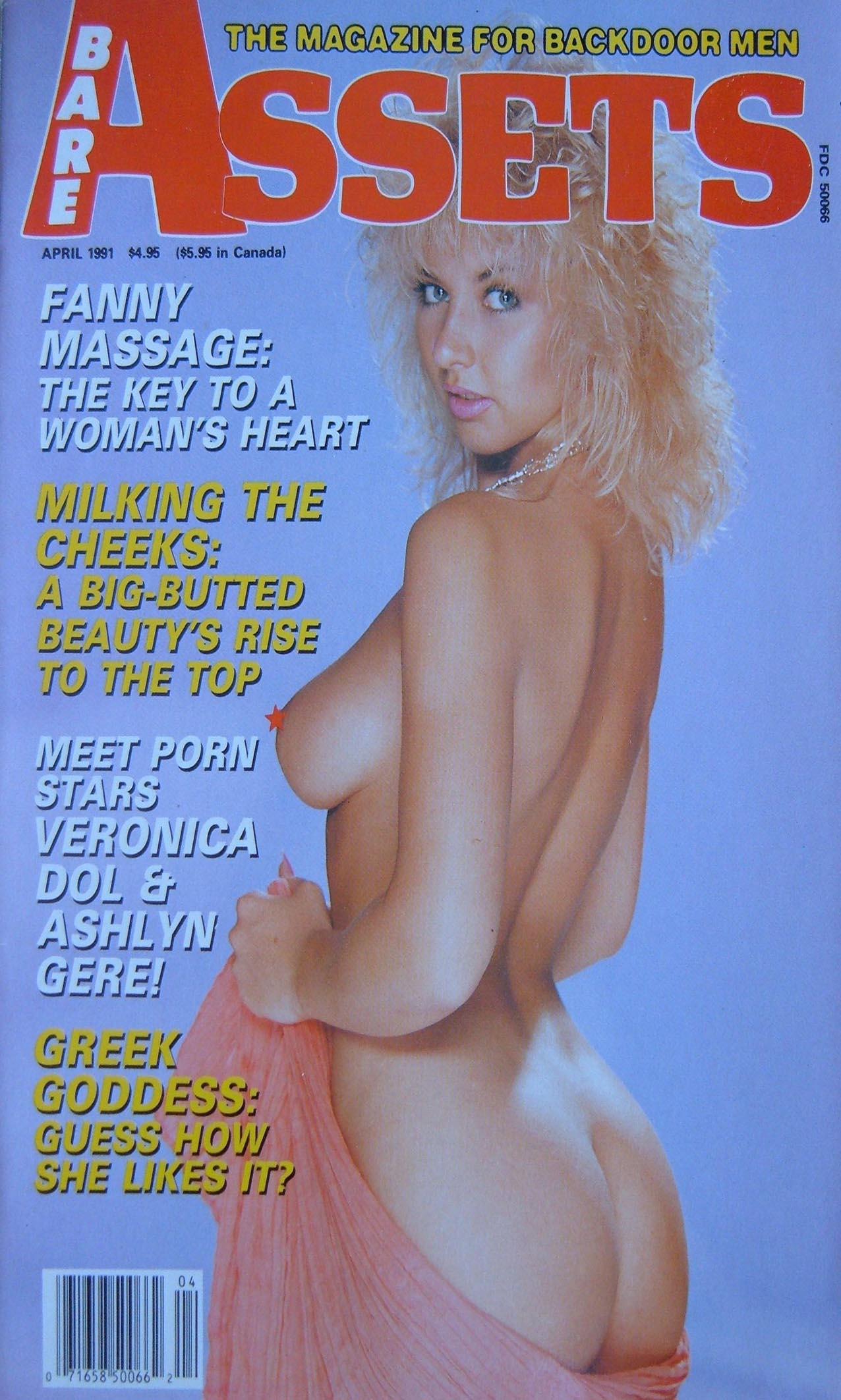 Bare Assets April 1991 magazine back issue Bare Assets magizine back copy