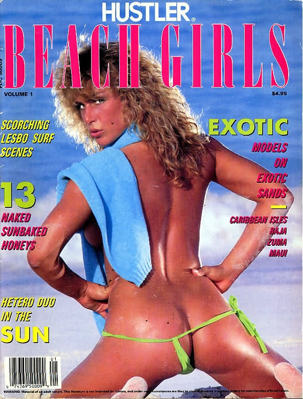 Hustler Beach Girls # 1 magazine back issue Hustler Beach Girls magizine back copy