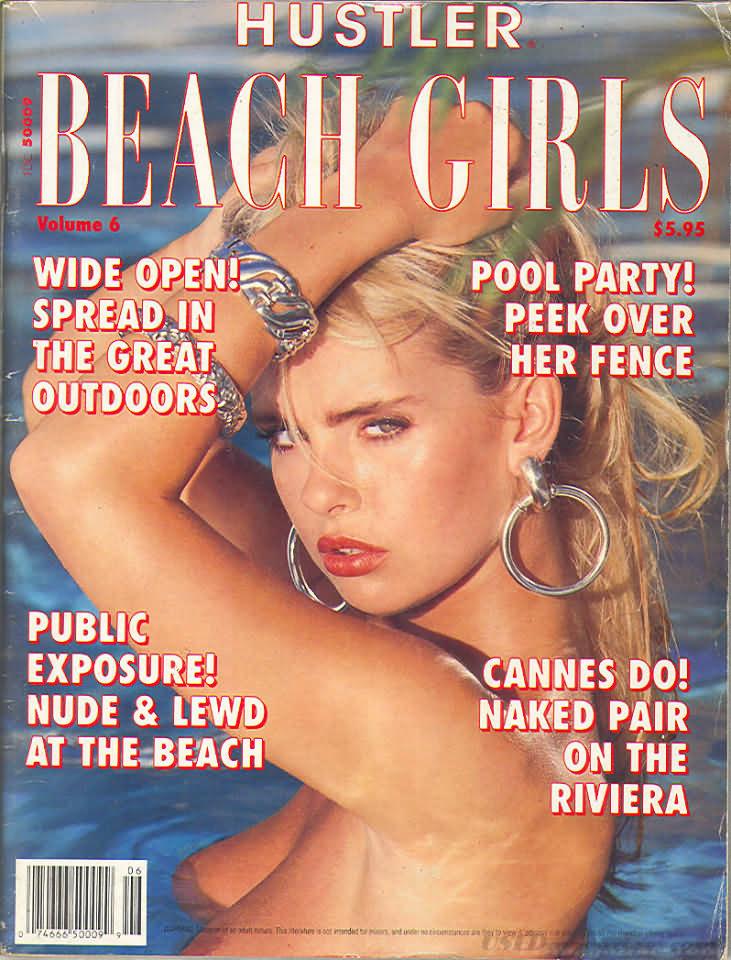 Hustler Beach Girls # 6 magazine back issue Hustler Beach Girls magizine back copy
