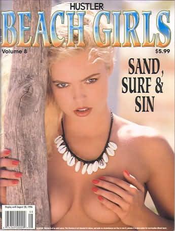 Hustler Beach Girls # 8 magazine back issue Hustler Beach Girls magizine back copy