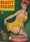 Beauty Parade March 1952 magazine back issue cover image