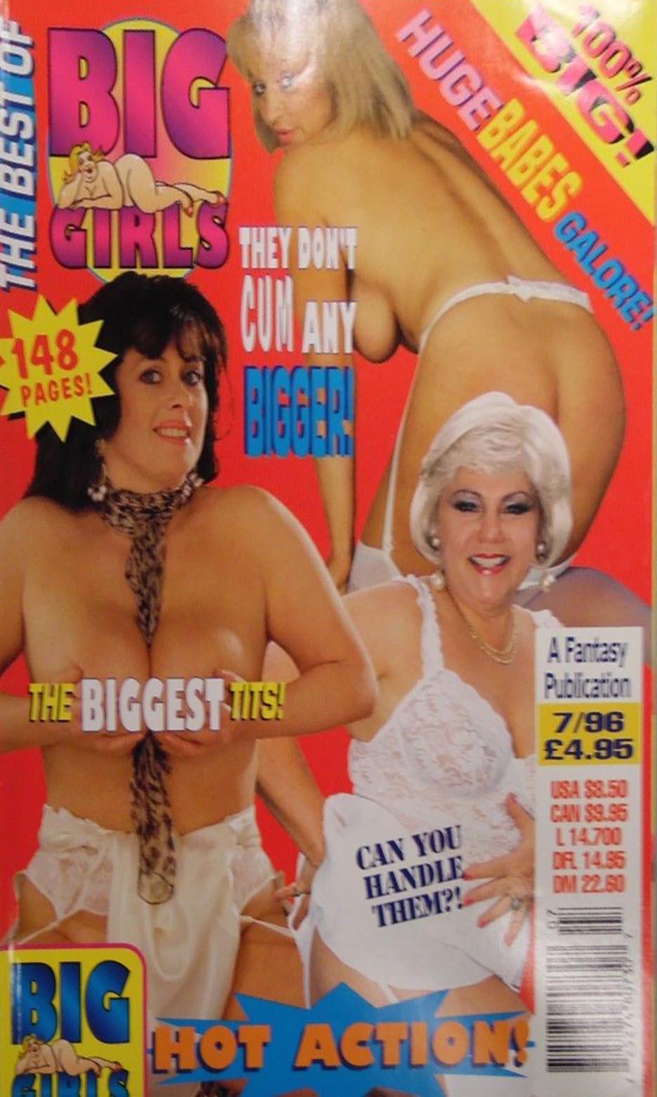Best of Big Girls July 1996 magazine back issue Best of Big Girls magizine back copy