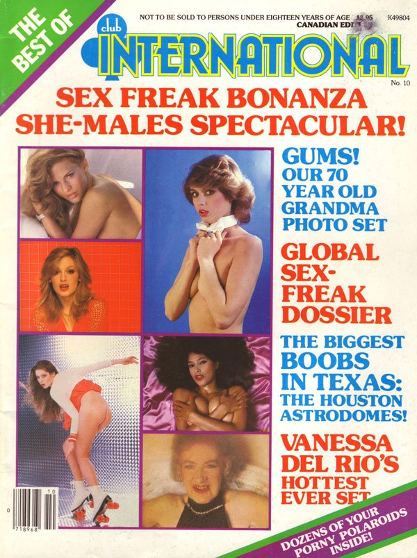 Best of Club International # 10 magazine back issue Best of Club International magizine back copy best of club international 1981 back issues sex freak bonanza xxx explicit nude pictorials swingers