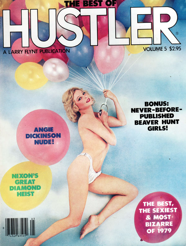 The Best of Hustler # 5 magazine back issue Best of Hustler magizine back copy the best of hustler volume 5, hot angie dickinson nude, nixon's great dimond heist,beaver hunt girls