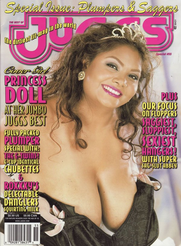 The 2004 Best of Juggs # 55: Plumpers & Saggers magazine back issue Best of Juggs magizine back copy special issue plumpers and saggers best of juggs magazine used cover girl princess doll tits boobs b