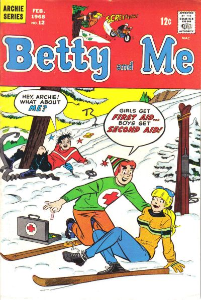 Betty and Me comic book back issue comicbook back copy