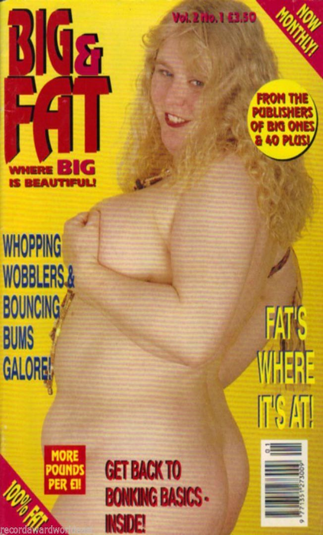 Big & Fat Vol. 2 # 1 magazine back issue Big & Fat magizine back copy big & fat magazine back issues 1995 whopping wobblers huge titters heavy women spread wide naughty s