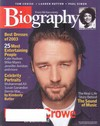 Biography December 2003 magazine back issue cover image
