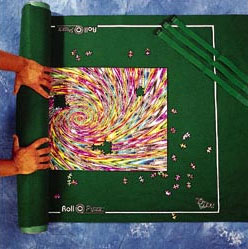 jigsaw puzzle mat holds 2000 jigsaw puzzle pieces roll it up and put it away puzzle-mat-deluxe
