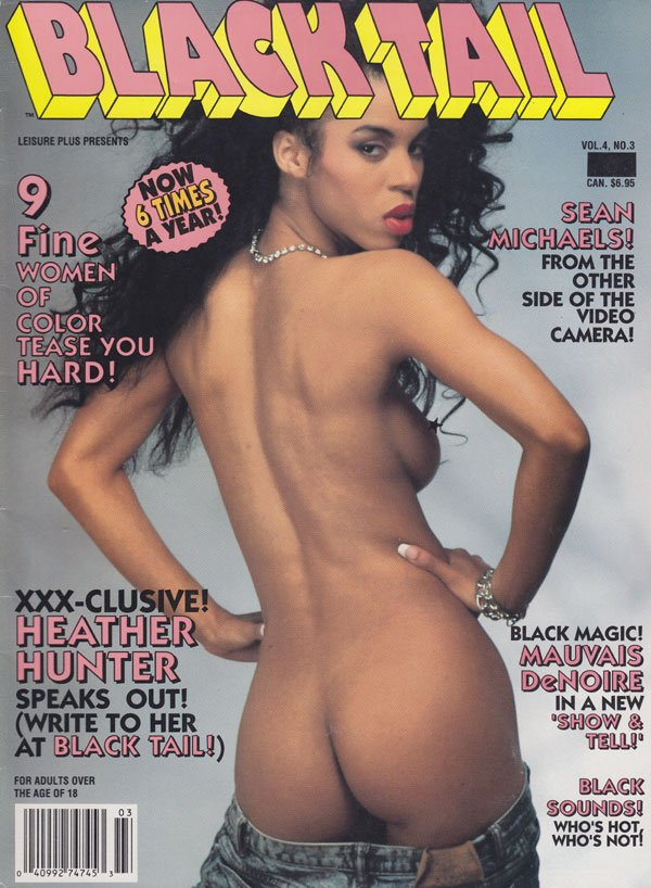 Black Tail Vol. 4 # 3 magazine back issue Black Tail magizine back copy black tail magazine back issues 1992 fine women spread wide black sounds hottest women tight asses t