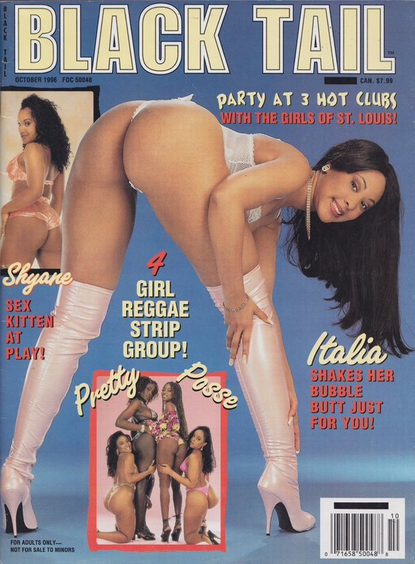 Black Tail October 1996 magazine back issue Black Tail magizine back copy Hot  Clubs, Sex Kitten at Play, 4 Girl Reggae Strip Group, Big, beautiful breasts,Porn stars,dancers