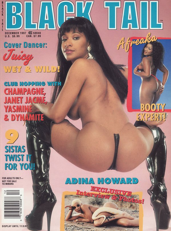 Black Tail December 1997 magazine back issue Black Tail magizine back copy black tail magazine 1997 issues hot ebony women naked strippers huge tits juicy butts 9 sistas booty