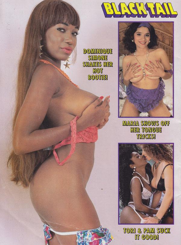 adult black magazine tail