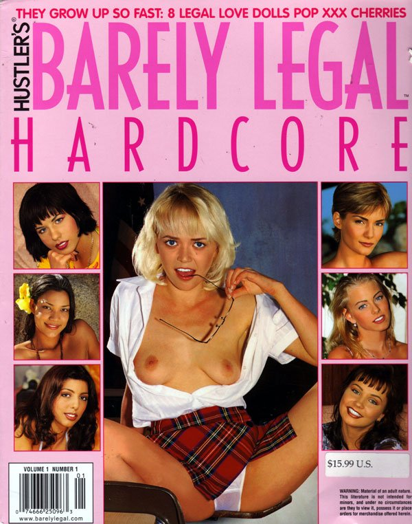 Barely Legal Hardcore Volume 1 # 1 magazine back issue Barely Legal Hardcore magizine back copy barely legal hardcore 2000 premiere issue, lots of 2 & 3 person action, young girls with 1 & 2 guys