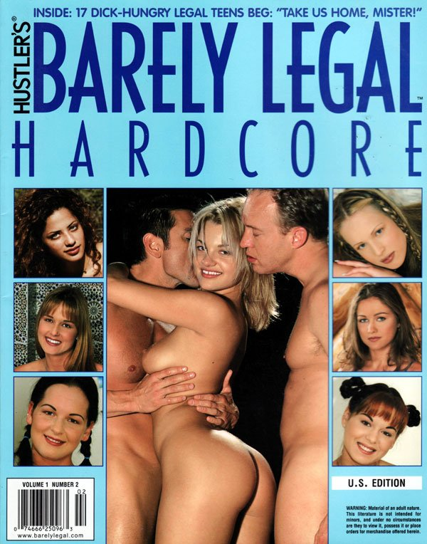 Barely Legal Hardcore Volume 1 # 2 magazine back issue Barely Legal Hardcore magizine back copy hardcore barely legal magizine larry flint publshing xxx rated ragmags hardcire