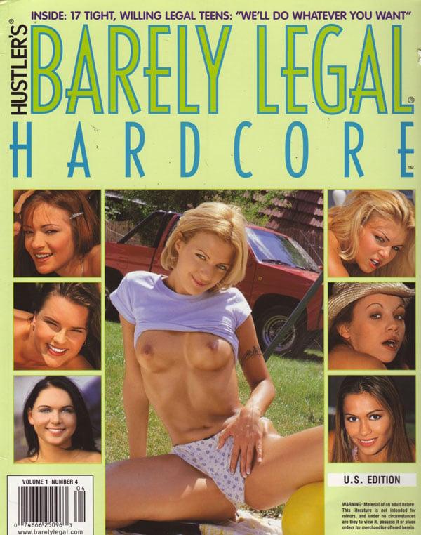 Beraly Legal Hardcore Volume 1 # 4 magazine back issue Barely Legal Hardcore magizine back copy barely legal hardcore 2000 issue, +++young hot to trot gals, lotsa lesbo action, 2 & 3 gal sex