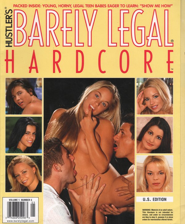 Barely Legal Hardcore Volume 1 # 5 magazine back issue Barely Legal Hardcore magizine back copy