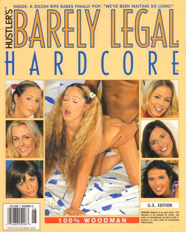 Barely Legal Hardcore Volume 1 # 6 magazine back issue Barely Legal Hardcore magizine back copy Dozen Ripe Babes Finally Pop,Who's the Hottest,Study Buddy,porn star quality,hooking can be fun