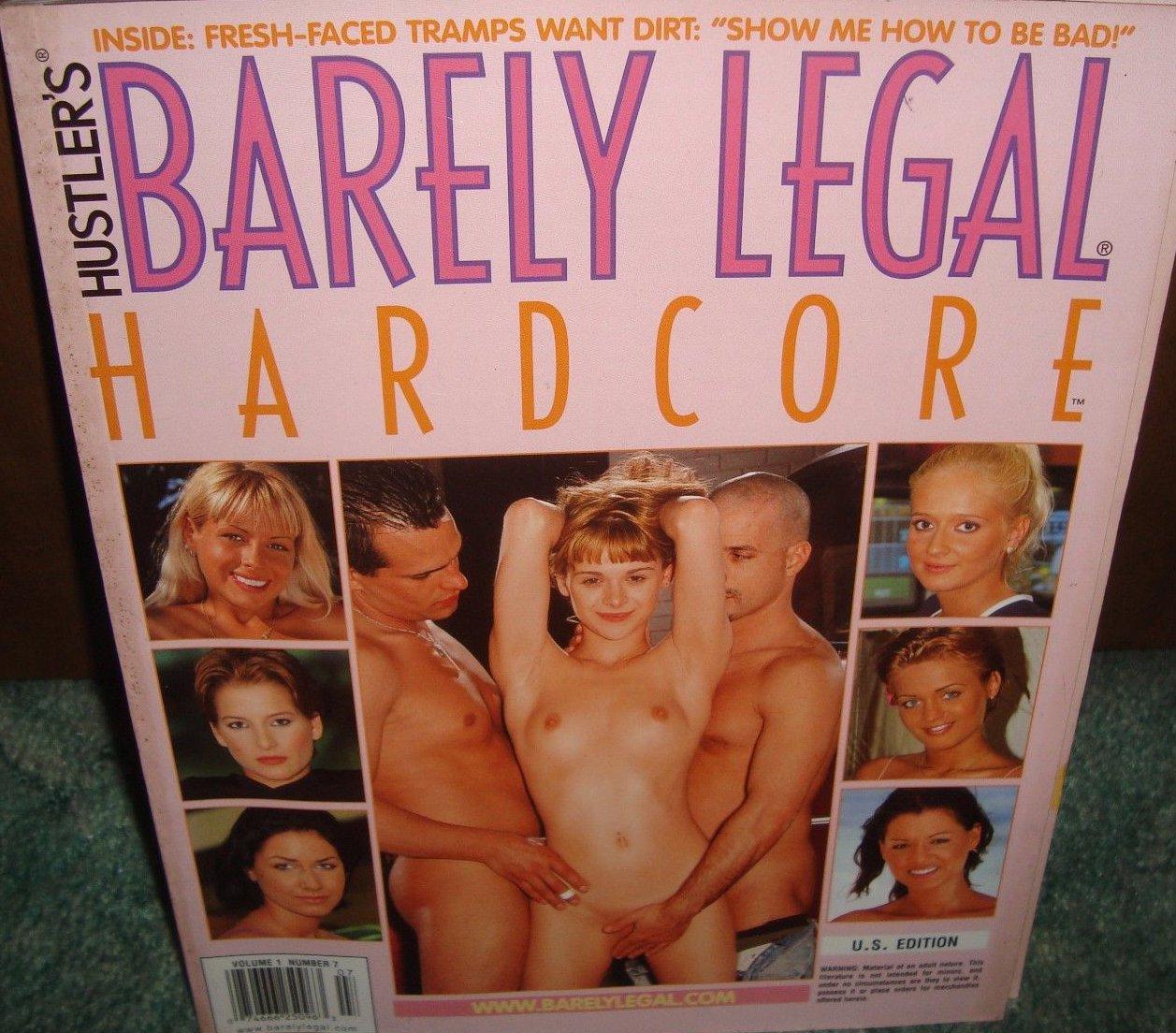 Barely Legal Hardcore Volume 1 # 7 magazine back issue Barely Legal Hardcore magizine back copy