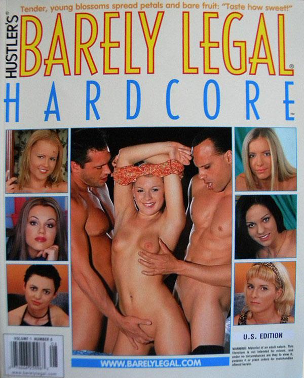 Barely Legal Hardcore Volume 1 # 8 magazine back issue Barely Legal Hardcore magizine back copy