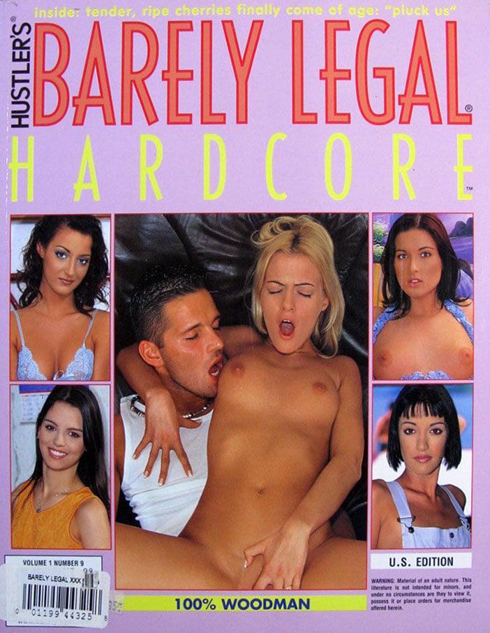 Barely Legal Hardcore Volume 1 # 9 magazine back issue Barely Legal Hardcore magizine back copy