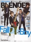 blender magazine 2009 issues fallout boy cover slash interview the killers music entertainment celeb Magazine Back Copies Magizines Mags