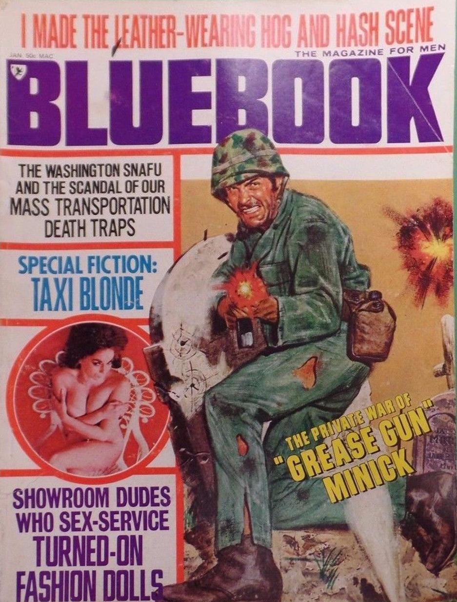 Bluebook January 1971 magazine back issue Bluebook magizine back copy