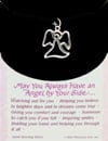 May You Always Have an Angel by Your Side solid sterling silver charm necklace pendant Puzzle
