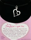 to-my-daughter-i-love-you,To My Daughter, I Love You - solid sterling silver charm necklace pendant