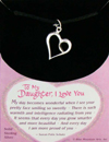 To My Daughter, I Love You - solid sterling silver charm necklace pendant Puzzle