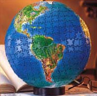 3d jigsaw puzzle by buffalo, world globe, spherical jigsaw puzzle worldglobe