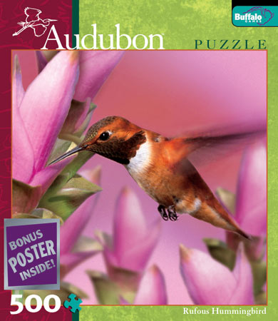 audubon collection, wildlife protection buffalo jigsaw puzzle, rufous hummingbird rufoushummingbird